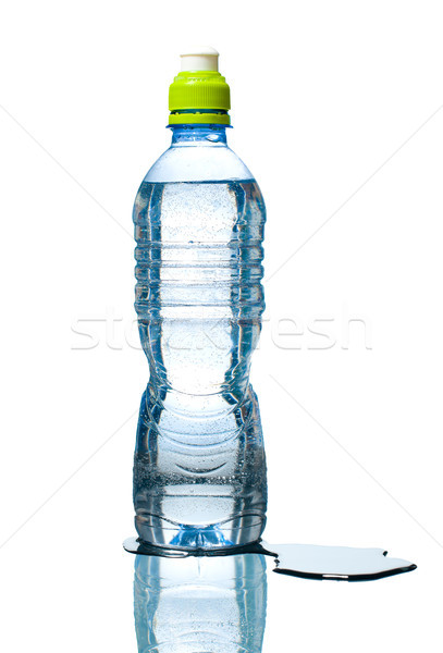 bottle of water with puddle besides Stock photo © kyolshin