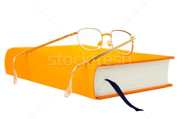 book with glasses Stock photo © kyolshin