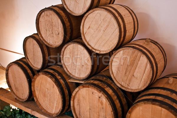wine barrels in cellar Stock photo © kyolshin
