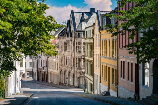 Alesund old city view. Norway, Scandinavia, Europe Stock photo © kyolshin