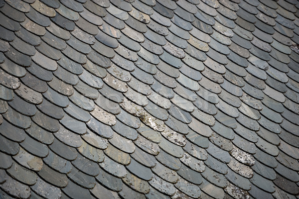 Old stone tiled roof in Norway, Europe Stock photo © kyolshin