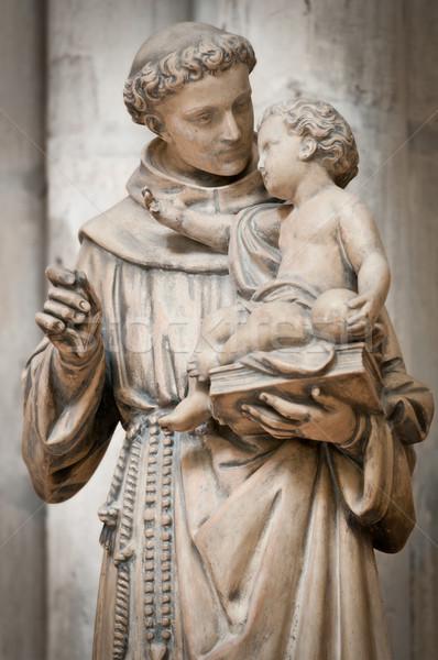 Stok fotoğraf: Adam · küçük · erkek · heykel · eller