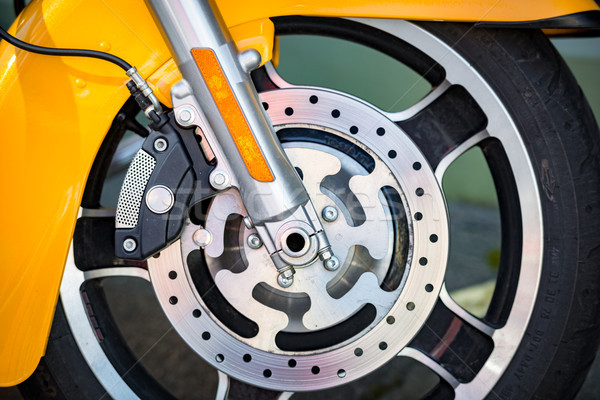 Dettaglio view moto ruota strada Foto d'archivio © kyolshin