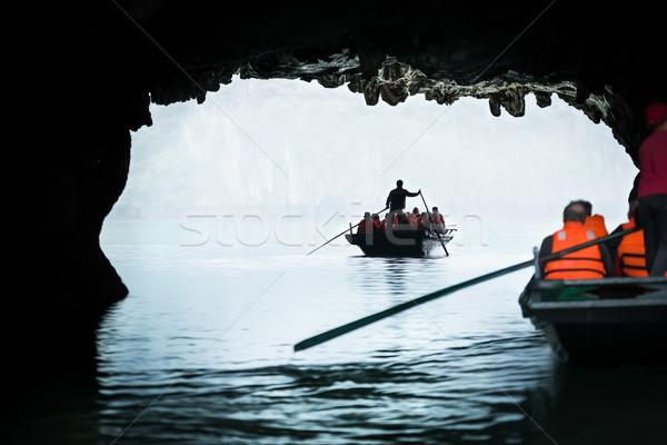 ストックフォト: 観光 · セーリング · ベトナム · ボート · 観光客 · 1