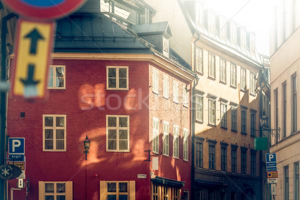 óváros Svédország Európa utca Stockholm Skandinávia Stock fotó © kyolshin