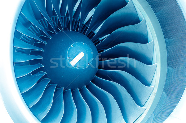 Modern plane engine turbine blades. Stock photo © kyolshin