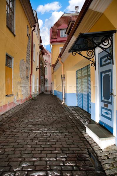 Oude straat smal gezellig centrum europese Stockfoto © kyolshin