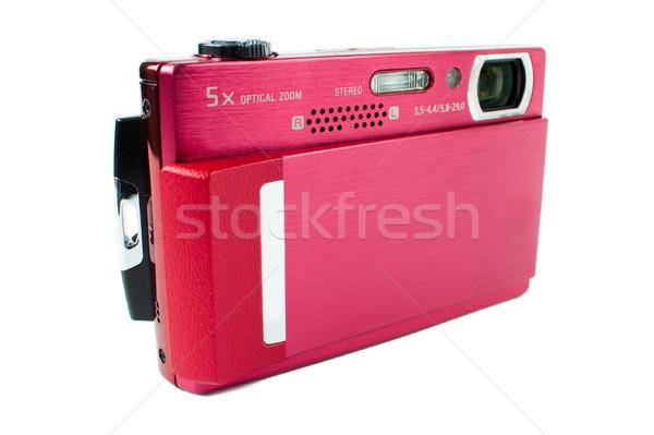 Compacto foto câmera vermelho isolado Foto stock © kyolshin
