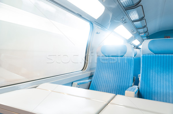 Modern express train. Stock photo © kyolshin