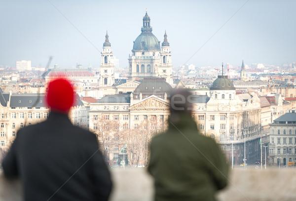 Chiesa Budapest Ungheria view pest città Foto d'archivio © kyolshin