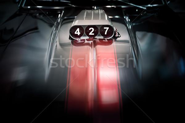 Blazer klassiek auto motor donkere sport Stockfoto © kyolshin
