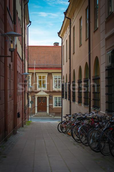 Velho rua Suécia estreito cidade rua Foto stock © kyolshin