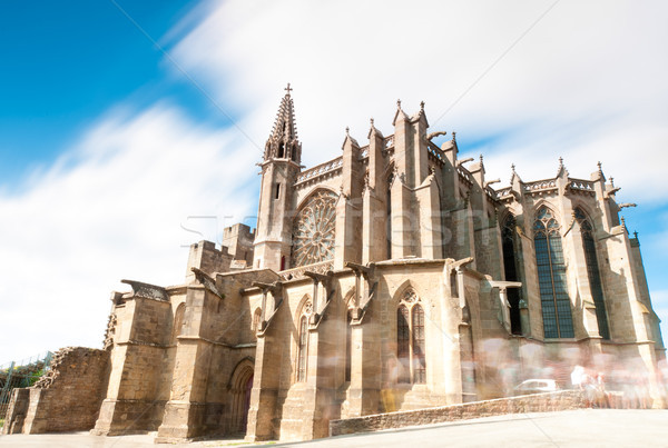 Gothic church in ancient city of Carcassonne. Stock photo © kyolshin
