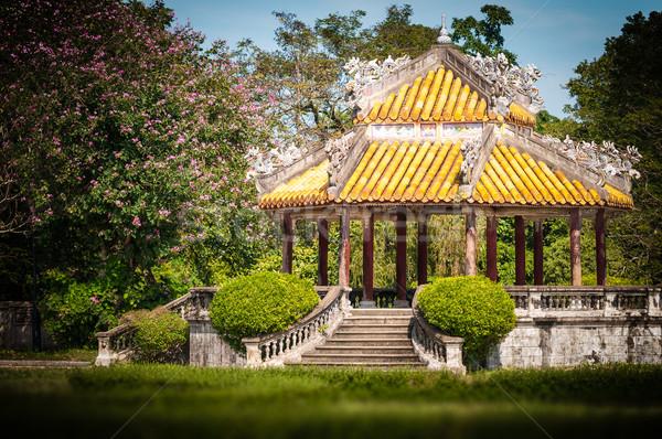 Pavillion with beautiful garden in Vietnam, Asia. Stock photo © kyolshin