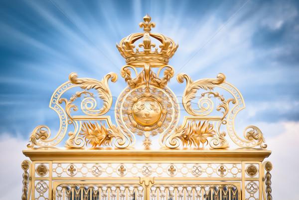 Golden gate of Chateau de Versailles. Paris, France, Europe. Stock photo © kyolshin