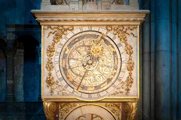 Old golden clock in Lyon, France. Stock photo © kyolshin