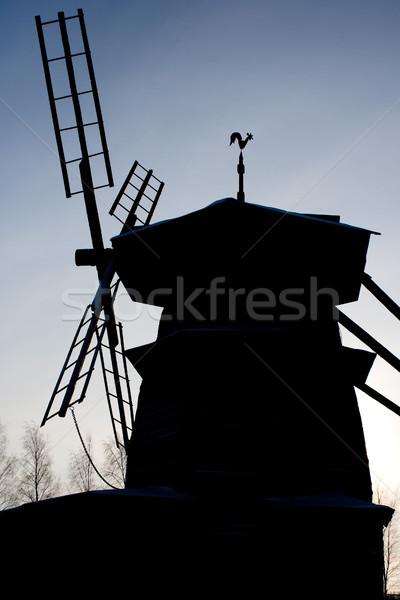 windmill silhouette Stock photo © kyolshin