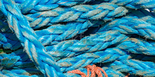 Ropes on boat in port of Norway, Europe Stock photo © kyolshin