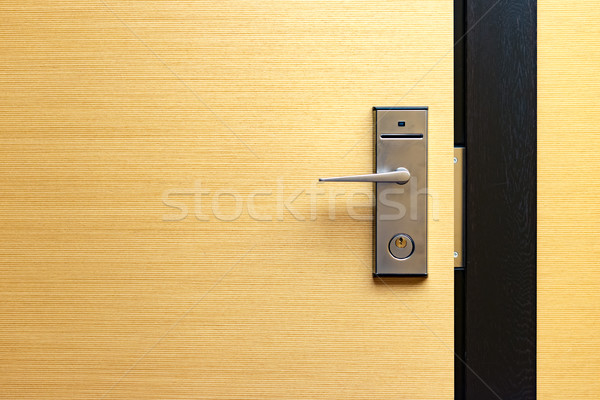 Modern ajtó zár ajtóküszöb kortárs kártya Stock fotó © kyolshin