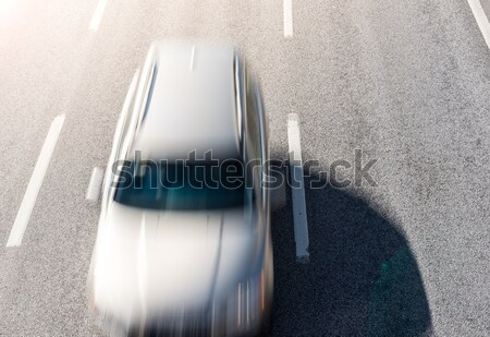 Top view on fast moving car Stock photo © kyolshin