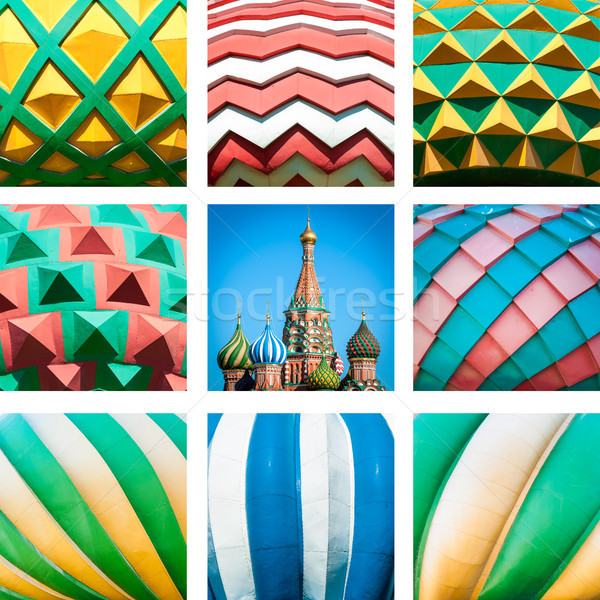 St. Basil Cathedral. Red Square in Moscow, Russia. Stock photo © kyolshin