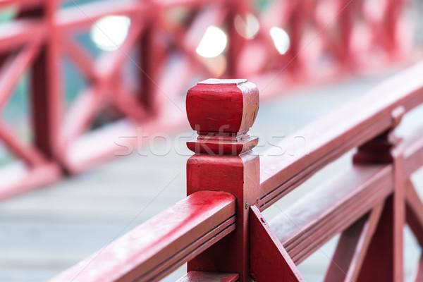 Ahşap köprü Vietnam odak görmek Stok fotoğraf © kyolshin