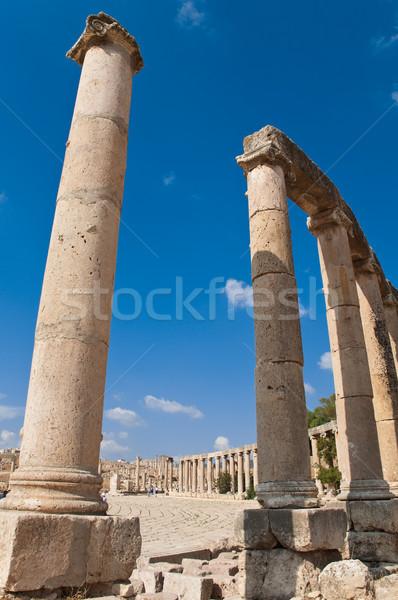 Ruinas antigua romana ciudad cielo naturaleza Foto stock © kyolshin