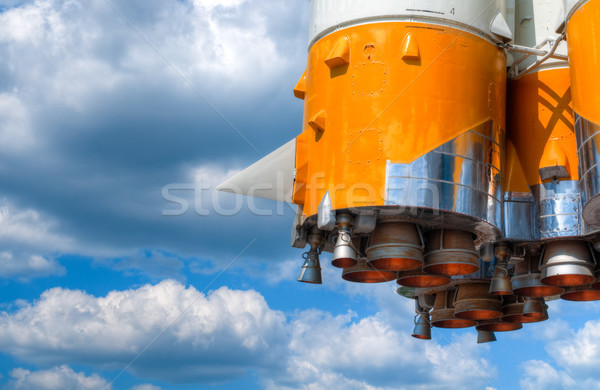 Stock photo: space rocket engine