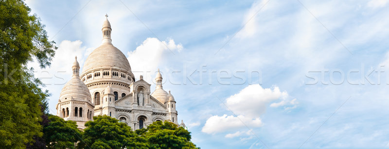 Large vue basilique sacré coeur Paris Photo stock © kyolshin