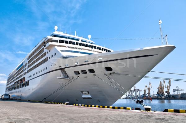 美しい クルーズ船 白 巨人 滞在 ストックフォト © kyolshin