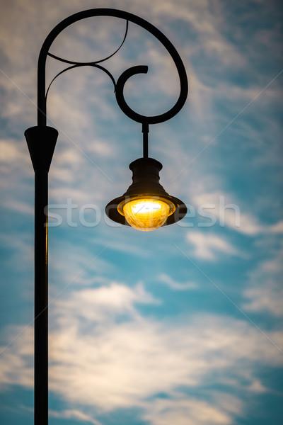 Strada luce tramonto Budapest Europa Ungheria Foto d'archivio © kyolshin