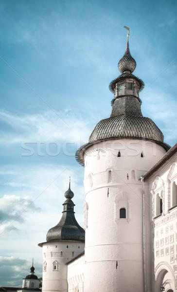 Kremlin blauwe hemel Rusland witte muren grijs Stockfoto © kyolshin