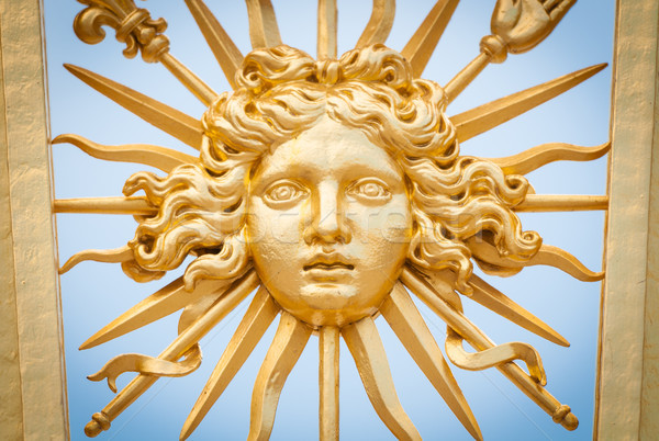 Element of golden gate of Chateau de Versailles. Stock photo © kyolshin