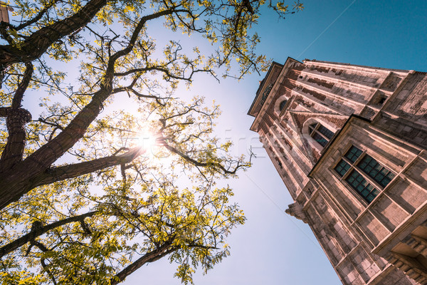 Cloth Hall tower. Krakow, Poland, Europe. Stock photo © kyolshin