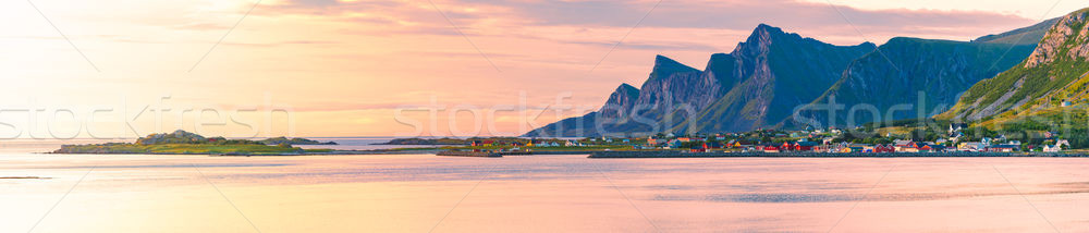 Landscape at sunset in Norway, Europe Stock photo © kyolshin