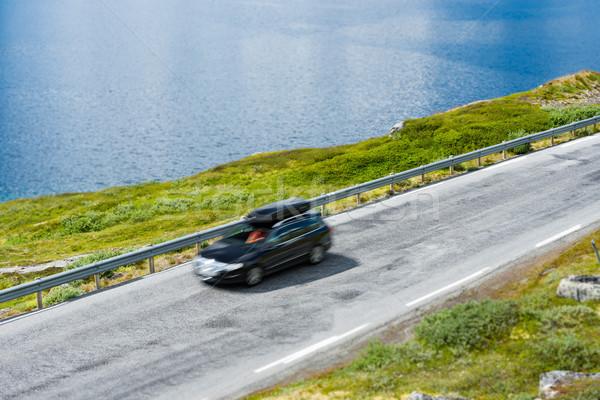 Car in mountains of Norway, Europe Stock photo © kyolshin