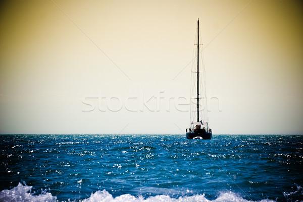 boat in ocean Stock photo © kyolshin