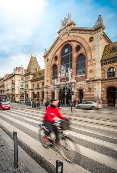 Centraal markt hal Boedapest Hongarije Europa Stockfoto © kyolshin