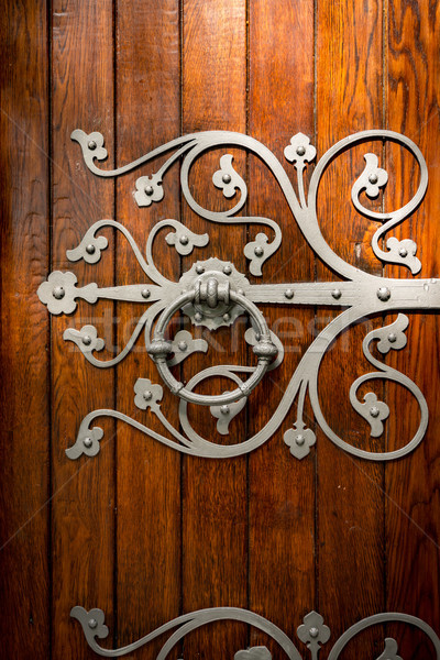 Church door details in Trondheim, Norway Stock photo © kyolshin
