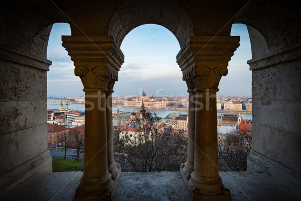 View on parliament building in Budapest, Hungary. Stock photo © kyolshin