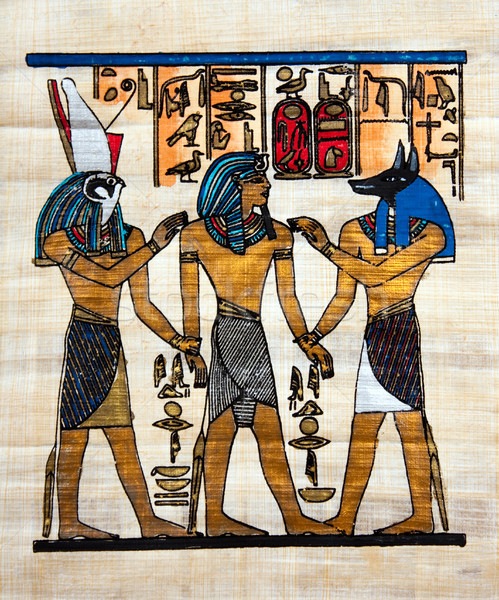 Egyptian Papyrus painting Stock photo © kyolshin