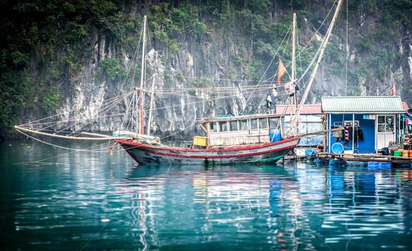 Photo stock: Viêt-Nam · maisons · bleu