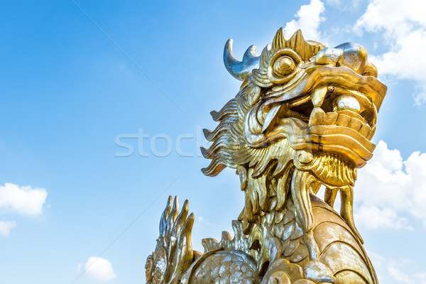 Dragon statue in Vietnam as symbol and myth. Stock photo © kyolshin