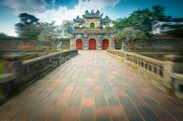Beautiful gate to Citadel of Hue in Vietnam, Asia. Stock photo © kyolshin
