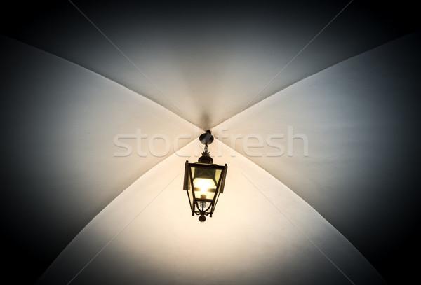 öreg lámpás Krakkó Lengyelország gyönyörű akasztás Stock fotó © kyolshin