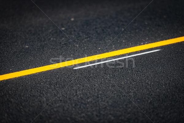 асфальт дороги подробный мнение желтый Сток-фото © kyolshin