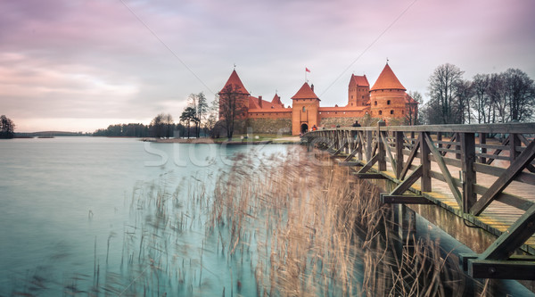Scenic view of castle in Trakai, Lithuania. Stock photo © kyolshin