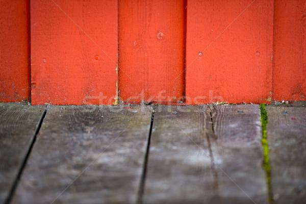 Régi épület fából készült fal Norvégia szabad űr Stock fotó © kyolshin