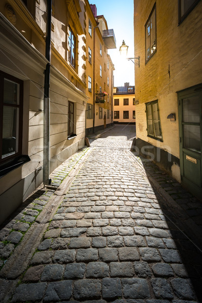 通り ストックホルム スウェーデン 古い 狭い 町 ストックフォト © kyolshin