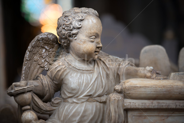 Statue of angel boy in church. Sweden, Europe Stock photo © kyolshin